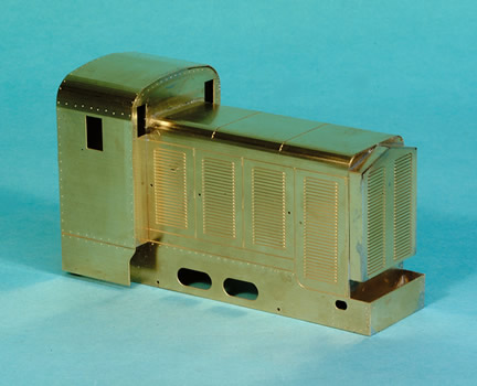 Front view Dick Kerr petrol electric locomotive